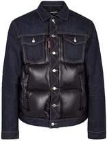 Dsquared2 Indigo Denim And Shell Jacket