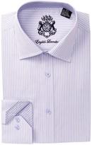 English Laundry Striped Pattern Trim Fit Dress Shirt