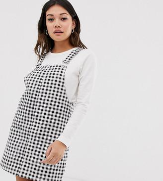 Miss Selfridge pinafore dress in gingham