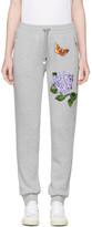 Dolce & Gabbana Grey Flower & Butterfly Lounge Pants
