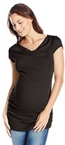 Michael Stars Women's Maternity Shine Short Sleeve Drape Neck