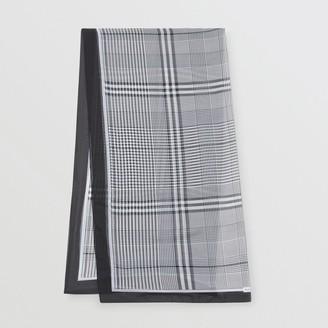 Burberry Check Print Silk Chiffon Scarf