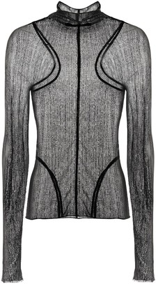 Thierry Mugler Sheer knit top