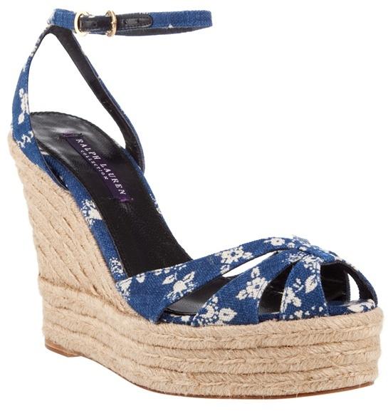 Ralph Lauren Floral platform wedge sandals