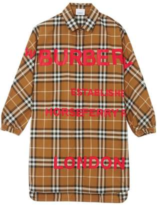 Burberry Kids Vintage Check Horseferry Shirt Dress (10-12 Years)