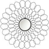 Jordana Black Beveled Round Wall Mirror