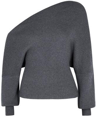 The Line By K Leon grey asymmetric jumper