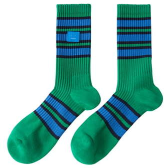 Acne Studios Face Patch Rib Socks
