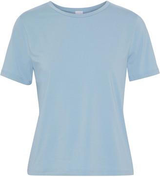 Iris & Ink Ronda Metallic-trimmed Stretch-jersey T-shirt