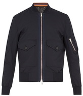 Paul Smith Patch-pocket wool-blend bomber jacket