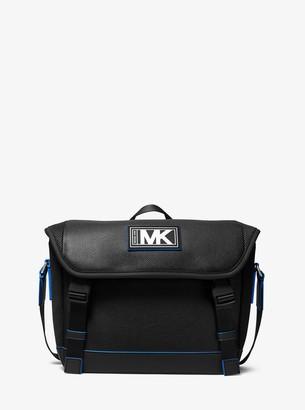 Michael Kors Cooper Pebbled Leather and Mesh Bike Bag