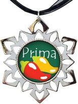 GiftJewelryShop Hot Chile Prima Cousin Hexagonal Snowflake Pendant Charm Necklaces