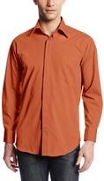 Stacy Adams Men's Long-Sleeve Standard-Fit Dress Shirt with Hidden Buttons