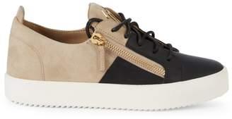 Giuseppe Zanotti Two-Tone Suede Sneakers
