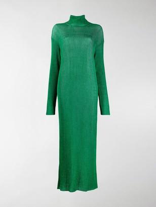 Balenciaga Metallic-Sheen Long Dress