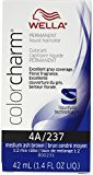 Wella Color Charm Liquid Haircolor 4a/237 Medium Ash Brown, 1.4 oz (Pack of 4)