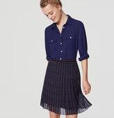 LOFT Plaid Pleated Skirt