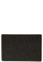 Thom Browne Men's Pebbled Leather City Wallet - Black