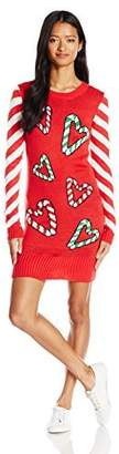 Love by Design Women's Candy Cane Hearts Christmas Dress