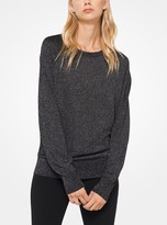 Michael Kors Metallic Melange Knit Sweater