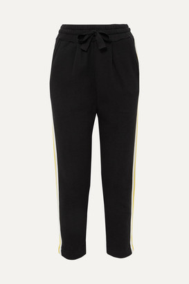 Chinti and Parker Dreamer Striped Cotton-jersey And Grosgrain Track Pants - Black