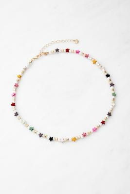 Urban Outfitters Star & Pearl Beaded Choker Necklace - Assorted ALL at