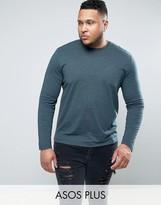 Asos PLUS Long Sleeve T-Shirt In Green