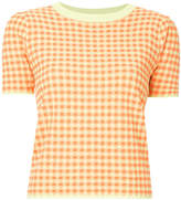 G.V.G.V. gingham check T-shirt