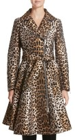 Sara Battaglia Women's Leopard Jacquard Trench Coat