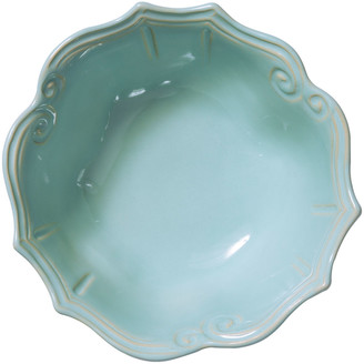 Vietri Incanto Stone Baroque Medium Serving Bowl, Aqua