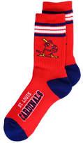 For Bare Feet St. Louis Cardinals Retro 4 Stripe Deuce Crew Socks
