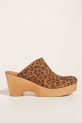 Anthropologie Hanna Heeled Clogs By in Assorted Size 39