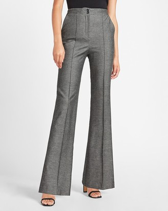 Express Super High Waisted Seamed Flare Pant