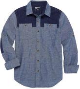 Arizona Long-Sleeve Cotton Utility Shirt - Boys 8-20 and Husky