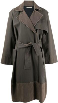 Balenciaga Pre Owned 2000s Draped Tied Coat