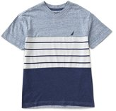 Nautica Big Boys 8-20 Color Block/Stripe Short-Sleeve Tee