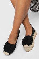 Thumbnail for your product : boohoo Canvas Ruffle Detail Espadrilles