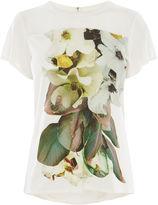Karen Millen Wild Rose T-shirt - White/multi