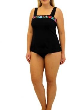 Fit 4 U Folkloric Square Neck Top Women's Swimsuit