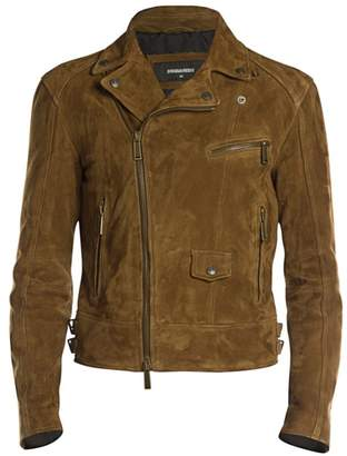 DSQUARED2 Classic Suede Moto Jacket