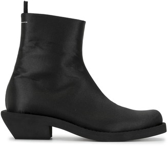 MM6 MAISON MARGIELA Extended Heel Ankle Boots