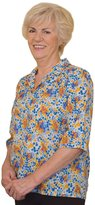 Silverts Disabled Elderly Needs Ladies Adaptive Snap Open Back Blouse - MED