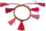 Natalie B Dara Tassel Bracelet in Metallic Gold.