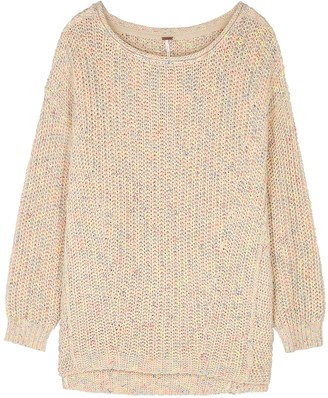 Free People Neon Lights rib-knit cotton-blend jumper