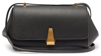 Bottega Veneta Angle Grained-leather Shoulder Bag - Womens - Black