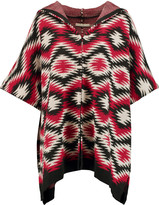 Alice + Olivia Henrietta Navajo intarsia-knit hooded cape