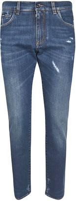 Dolce & Gabbana Rear Patch Pocket Logo Detail Jeans