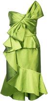 Marchesa ruffled bow dress