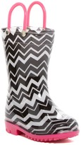 Capelli of New York Chevron Print Rain Boot (Toddler)