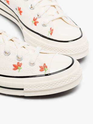 Converse White Chuck 70 Floral Low Top Sneakers